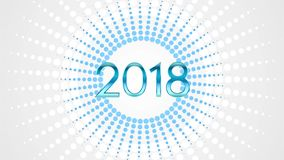 Happy 2018 New Year video animation vector illustration