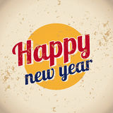 Happy new year vintage Royalty Free Stock Photos