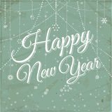 Happy new year vintage background Royalty Free Stock Photo