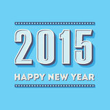 Happy new year 2015 vintage greeting card design Stock Images
