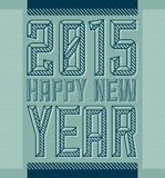 2015 happy new year - vintage industrial style. Vector poster - eps available Royalty Free Stock Photos