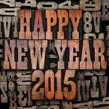 Happy New Year 2015. Vintage letterpress Happy New Year 2015 Stock Images