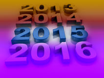 Happy New Year 2015. Vintage letterpress Happy New Year 2015 Royalty Free Stock Photography