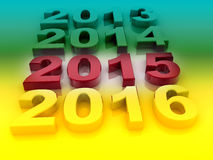 Happy New Year 2015. Vintage letterpress Happy New Year 2015 Stock Photos