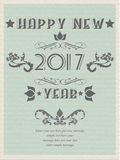 2017 happy new year vintage retro poster flyer for web. 2017 happy new year vintage retro poster flyer Stock Images