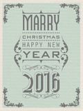 2016 Happy new year vintage retro second edition Stock Photography