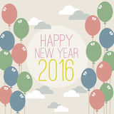 Happy New Year 2016 Vintage Style. Vector Illustration Royalty Free Stock Images