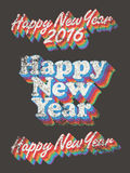 Happy New Year vintage used Royalty Free Stock Images