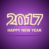 2017 Happy New Year on violet background79.2017 Happy New Year o. 2017 Happy New Year on violet background, stock vector Stock Photos