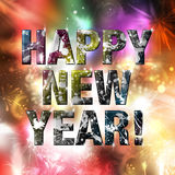 Happy New Year! Vivid Background Royalty Free Stock Image