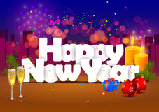 Happy New Year wallpaper background Royalty Free Stock Images