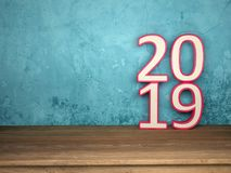 New Year 2019 - 3D Rendered Image. Happy New Year 2019 Wallpaper - 3D Rendered Image Design Royalty Free Stock Photo