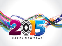 Happy New year wave background with grunge. Vector illustration Royalty Free Illustration