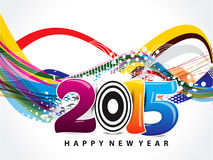Happy New year wave background. Vector illustration Vector Illustration