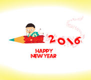 Happy new year 2016. Welcome to school Royalty Free Stock Photos