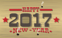 2017 happy new year western style. For web Royalty Free Stock Photos