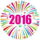 Happy new year 2016 white Stock Images