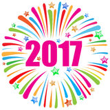 Happy new year 2017 white Stock Photo