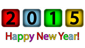 Happy New Year 2015. On white background Royalty Free Stock Photos
