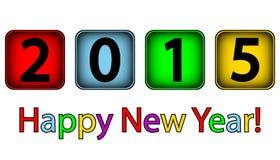Happy New Year 2015. On white background Royalty Free Illustration