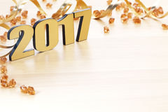 Happy New Year 2017. On white background