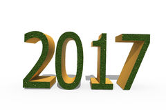 Happy, new, year, 2017. On white background the numbers 2017 in a 3D format, signifying the coming New year Royalty Free Stock Photos