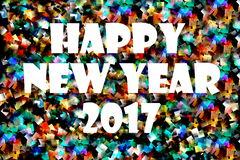Happy New Year White 2017 Royalty Free Stock Photo