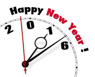 Happy New Year 2016. White clock with words Happy New Year 2016 Royalty Free Stock Images