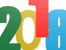 Happy New 2018 Year on white Stock Photo