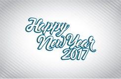 Happy new year 2017 white illustration Stock Photos