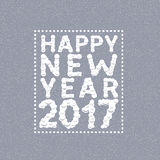 Happy New Year. 2017. White snow font, holiday illustration Royalty Free Stock Photography