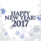 2017 Happy New Year. white snowflakes background. 2017 Happy New Year. white snowflakes texture background stock illustration