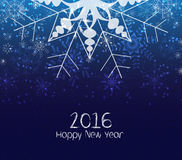 Happy new year 2016, winter christmas background.  royalty free illustration