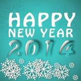 Happy new year winter illustration Royalty Free Stock Image