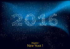 Happy New Year 2016. New Year 2016 - Wish card illustration, vector Royalty Free Stock Images