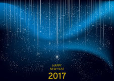Happy new Year 2017. Wish card illustration, vector Stock Images