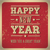 Happy new year! Wish you great year! royalty free illustration
