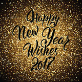 Happy New Year Wishes 2017 Royalty Free Stock Images