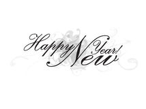 Happy new Year. Wishes Illustration Royalty Free Stock Images
