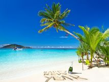 Happy New Year wishes from the tropical beach stock photography
