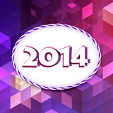 Happy new year wishes. Vector 2014 happy new year design stock illustration