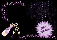Free Happy New Year With Fireworks Stock Images - 3647244