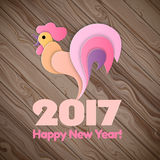 Happy New Year 2017 on the wooden background. Royalty Free Stock Photography