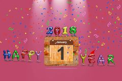 Happy New Year 2018. Royalty Free Stock Images