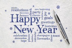 Happy New Year word cloud Stock Image