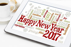 Happy New Year 2017 word cloud Royalty Free Stock Photography