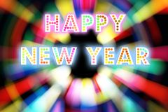HAPPY NEW YEAR 2016 word with colorful decoration.  royalty free stock photos
