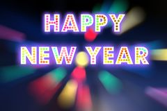 HAPPY NEW YEAR 2016 word with colorful decoration.  royalty free stock images