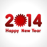 Happy New Year word,2014 with gear Royalty Free Stock Images