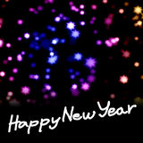 Happy New Year word with nice starry background Royalty Free Stock Images